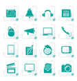 stylized communication and media icons vector image