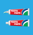tube with squeezed paste package with tooth paste vector image