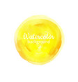 yellow watercolor abstract hand painted vector image