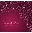 Floral twirl postcard lilac vector image vector image