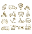 hand drawn transport vector image vector image