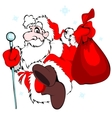 Santa Claus with a bag vector image