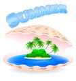 Tropical Island Shell vector image