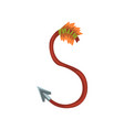 cartoon letter s formed by wooden arrow with steel vector image