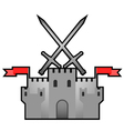 Castle medieval design vector image