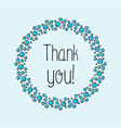concept thank you with bubbles for web site vector image