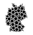 Germany map mosaic of circles vector image