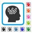 headache framed icon vector image