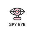 spy eye simple icon for web or print vector image