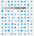 Set of office stickers vector image