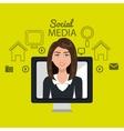 woman social media apps vector image