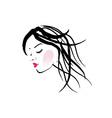 A lady with dreadlocks- dreadlock fashion graphic vector image