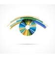 Set of colorful eye icons vector image
