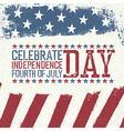Independence Day Design template Celebration vector image