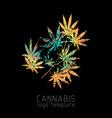 cannabis creative logo vector image