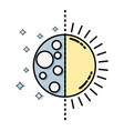 eclipse of moon and sun universe mystic vector image