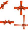 Gift orange ribbon and bow EPS 10 vector image
