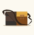 Retro style briefcase business vector image