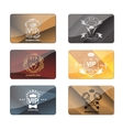 VIP club members only premium cards set vector image