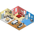 Apartment Isometric Design vector image