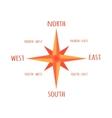 Diagram Compass Rose For Navigation Orientation vector image