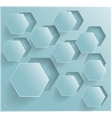 abstract background Hexagon Web and Design vector image vector image