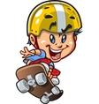 Cool Little Skateboard Guy vector image