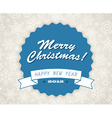 Simple blue vintage retro Christmas card vector image vector image
