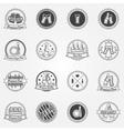 Beer labels or badges set - black logos vector image