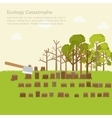 issue deforestation design background vector image