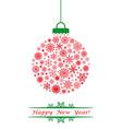 Christmas ball red vector image vector image