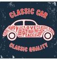 Car vintage stamp vector image
