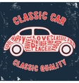 Car vintage stamp vector image