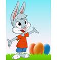 cartoon easter rabbit vector image