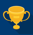 gold cup of the winnerfans single icon in flat vector image