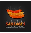 Grilled Sausages poster Barbecue promotional vector image