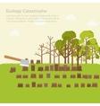 issue deforestation design background vector image