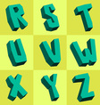 rocky font vector image