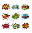 Set of comic speech bubble vector image