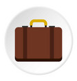 suitcase icon circle vector image