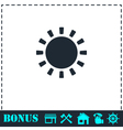 Sun icon flat vector image