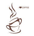 Two coffee cup with plate vector image