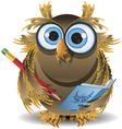 owl secretary vector image