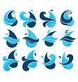 water drops and sea symbols vector image vector image
