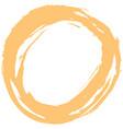 yellow brushstroke circular shape vector image