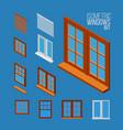 isometric windows set vector image