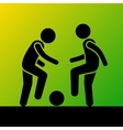 Two Football Players with Ball Icon vector image