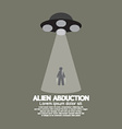 Alien Abduction With UFO Spaceship vector image