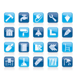 Building and home renovation icons vector image