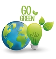 think Green design natural concept ecology vector image
